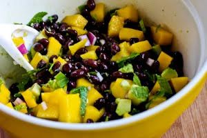Mango Salad with Black Beans, Avocado, Mint, and Chile-Lime Vinaigret ...