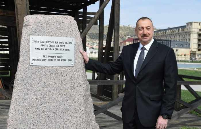 President of the Republic of Azerbaijan Ilham Aliyev has today viewed the newly reconstructed well in SOCAR's Bibiheybat field, the world`s first mechanically drilled oil facility.