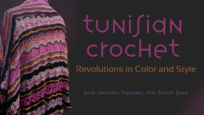 In Jennifer Hansen's online class, Tunisian Crochet: Revolutions in Color and Style, you will learn to create beautiful pieces with Tunisian Crochet. - via @Craftsy...I love these colors...