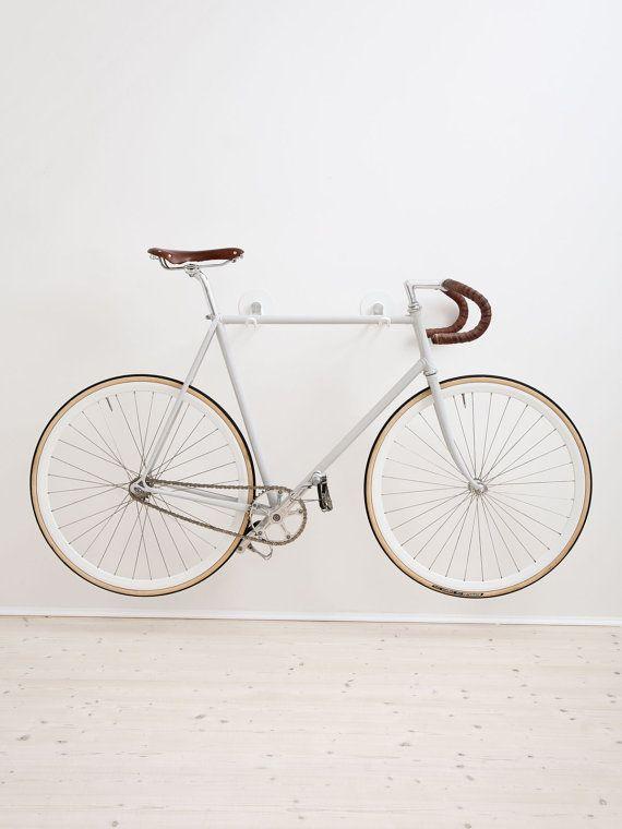 Bike Hooks / WHITE GREY GUM by AlexaLethen on Etsy