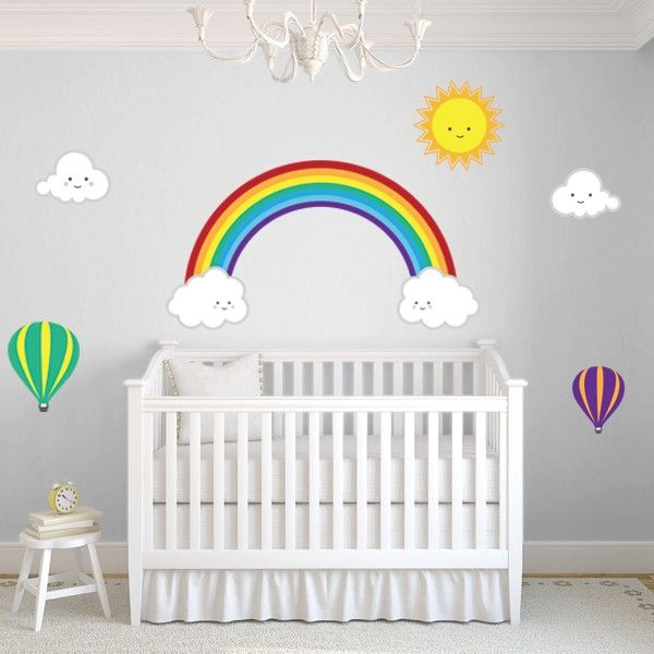 Custom Wall Murals | Wall Stickers, Removable Wallpaper | Wallcreations    Rainbow Decal