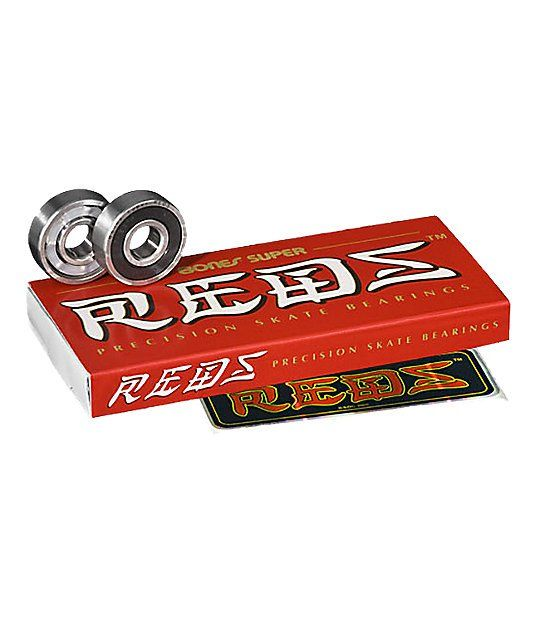The Bones Super Reds skateboard bearings are a beefed up version of the classic Bones Reds bearings. These precision skate bearings feature a high grade steel design, superior surface finish and are more durable, quiet and longer lasting than the original