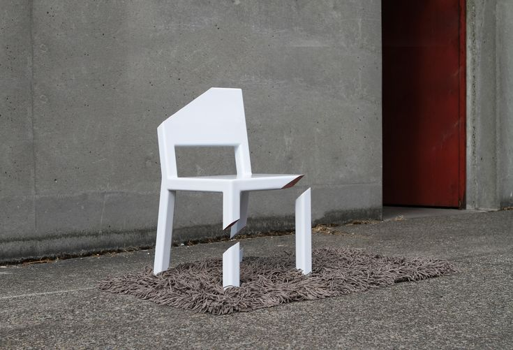 """Peter Bristol - Product - The Cut Chair.   """"A plate concealed by a thick carpet allows a robust cantilevered seat. """"  Found on Archello."""