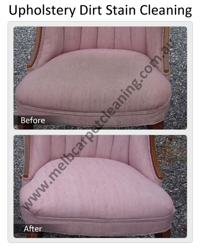 Upholstery Dirt Stain Cleaning by Melbourne Carpet Cleaning
