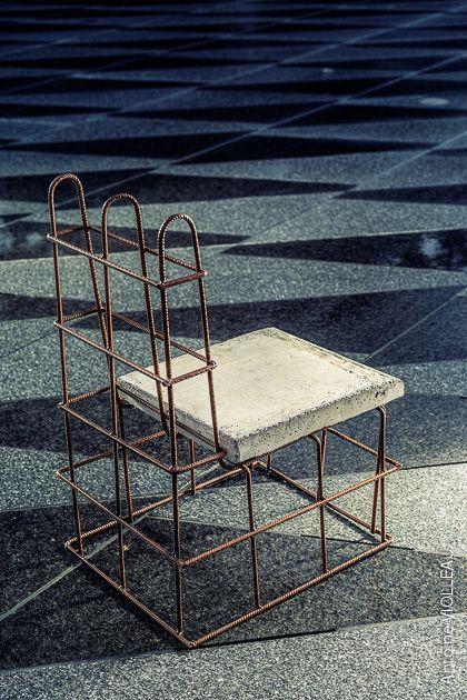 No Stop Chair / Fer à béton, béton  Crédit photo Antoine Violleau