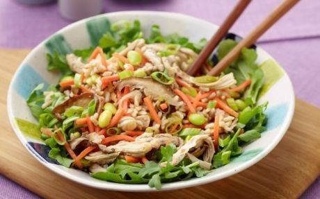 15-Minute Asian Rice Salad Recipe by Food Network Kitchens : Food Network UK