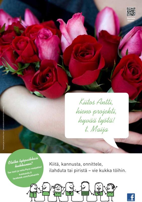 kukkainfo.fi -> Vie kukka töihin 2012