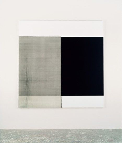 2003 Exposed Painting Intense Black Oil on linen | 170.5 x 167.5 cm