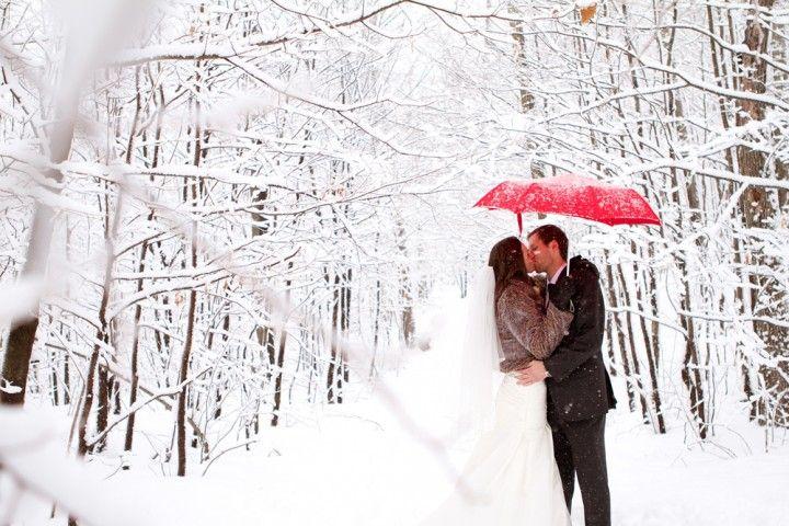 Un détail rouge sous la neige / Red detail under white snow
