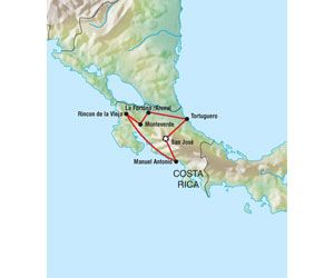 Costa Rica Pass - Route 6 Adventure Bus adventure tours and late deals to Central America
