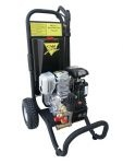 Cam Spray builds more than 180 styles and models of pressure washers. They are powered by electricity, diesel or gasoline, and run using hot and cold water. Our smaller pressure washers including steam pressure washers, hot water and cold water pressure washers exert 1,000 psi and have a water flow rate of two gallons per minute; larger pieces of Cam Spray equipment have power levels of 5,000 psi and blast out 20 gallons of water per minute.