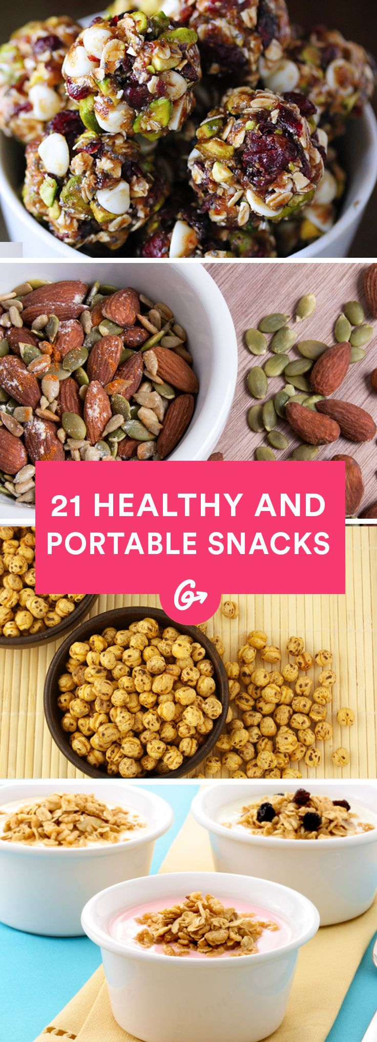 Nosh on some strategic snacks to avoid crashed and bring back that alert, energized state of mind. #healthy #snacks http://greatist.com/eat/portable-energy-boosting-snacks