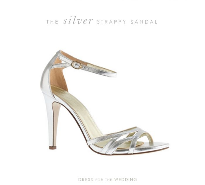 silver heels for wedding | silver strappy sandals