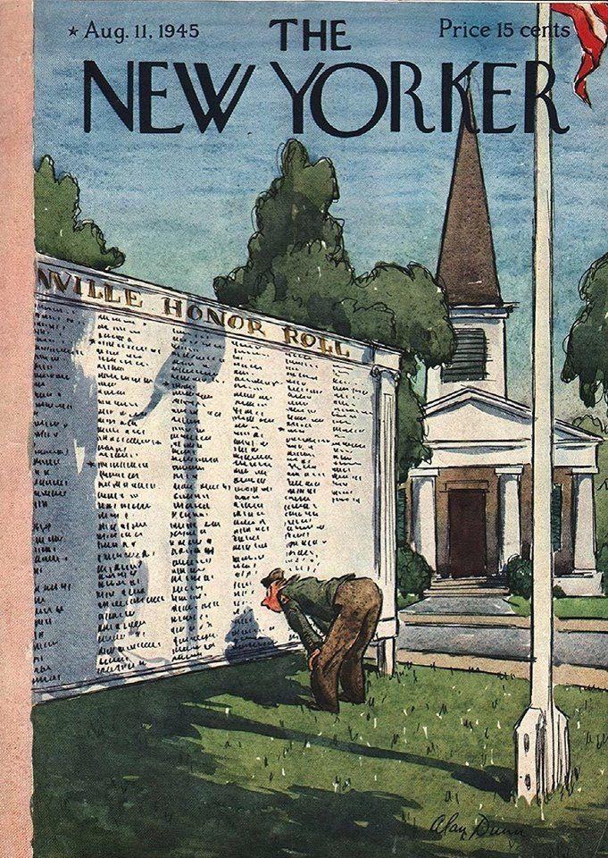 The New Yorker August 11  1945 Cover Art   Alan Dunn
