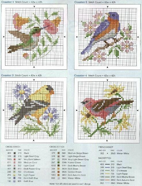 Gallery.ru / Фото #1 - четыре птички - irisha-ira
