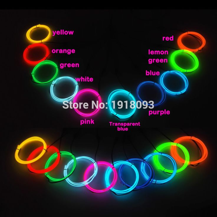 Hot 3.2mm 1M 10pieces ten color flexible electroluminescent wire EL wire rope tube Led neon light rope For LED Strip Decor