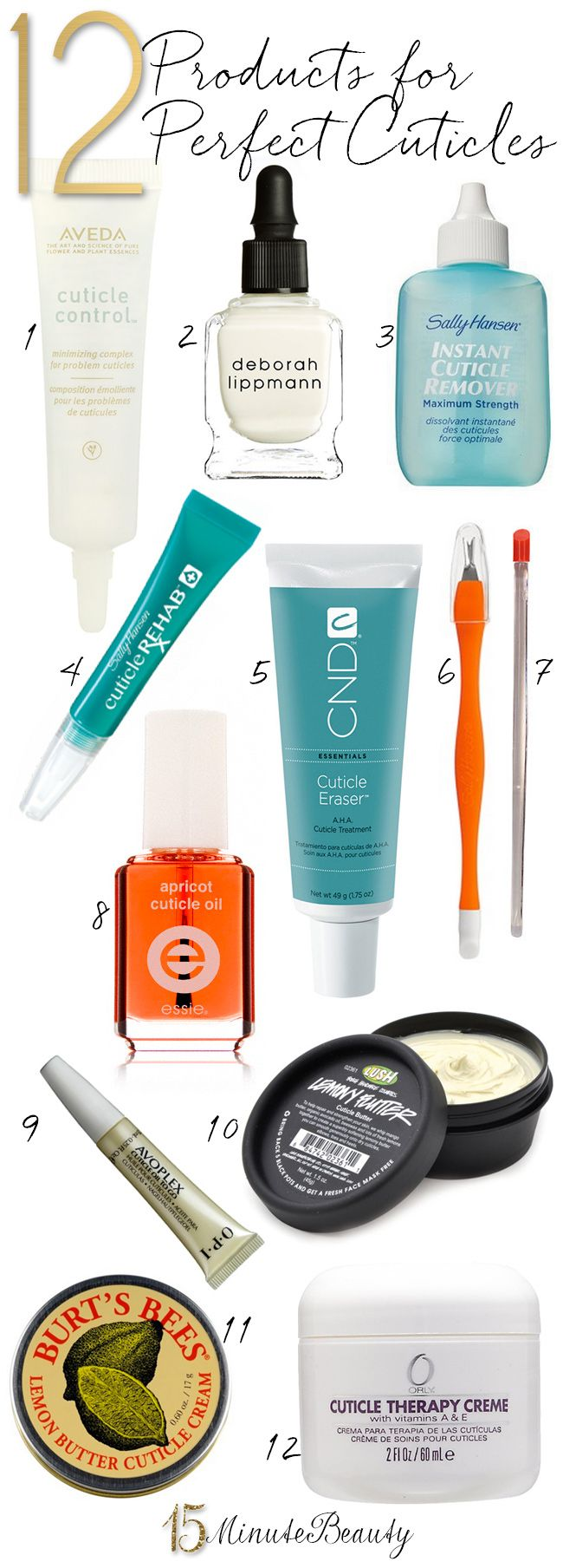 the best products to give you perfect cuticles via 15minutebeauty.com