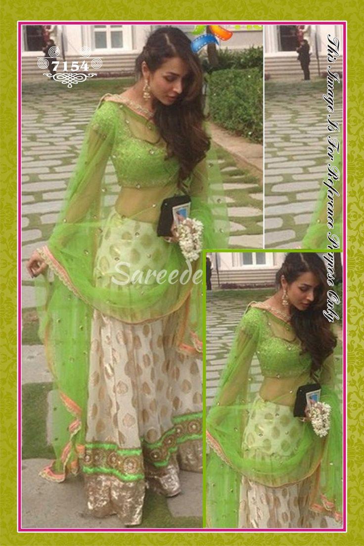 Banarsi Style White Lehenga With Neon Green Combination At Aimdeals.com