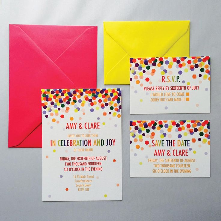 Get your guests super excited for your wedding with some brightly coloured wedding invitations – this rainbow themed stationery suite from Top Table Design is ideal. If you want to think outside the box when it comes to your wedding stationery, don't miss our round up of alternative wedding invitation ideas.