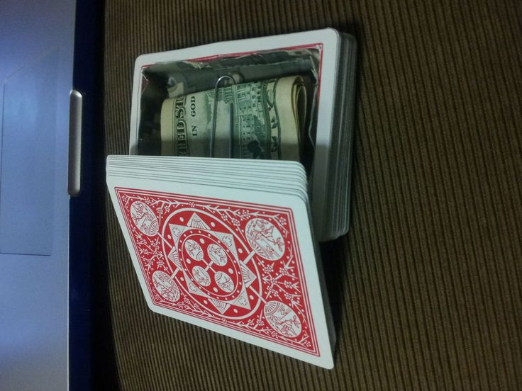 How to turn a deck of cards into a diversion safe