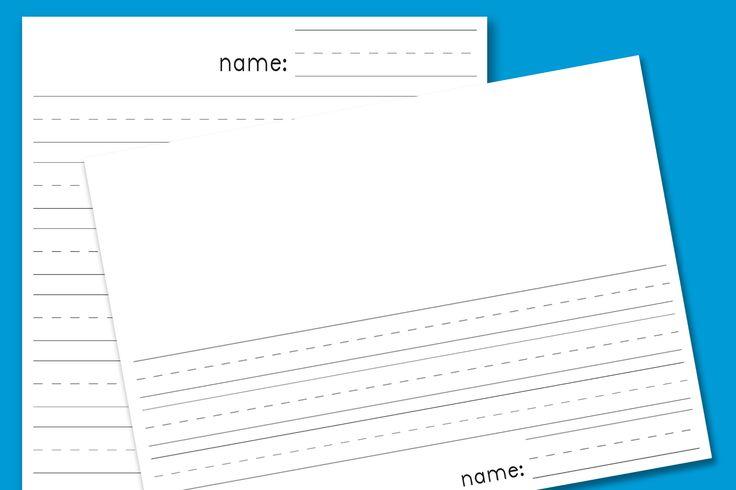 Free Printable Kindergarten Blank Lined Paper Full Sheet