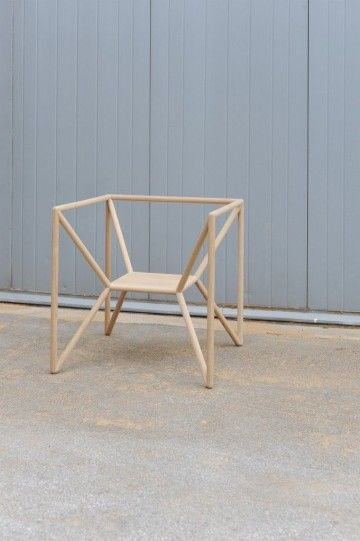 silla, madera, artesania, minimalista, espacio, Thomas Feichtner, chair, geometrica,