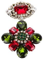 STELLA JEAN - 'Ife' embellished brooch #stellajean #brooch #womens #farfetch #dolcitrame #dolcitrameshop