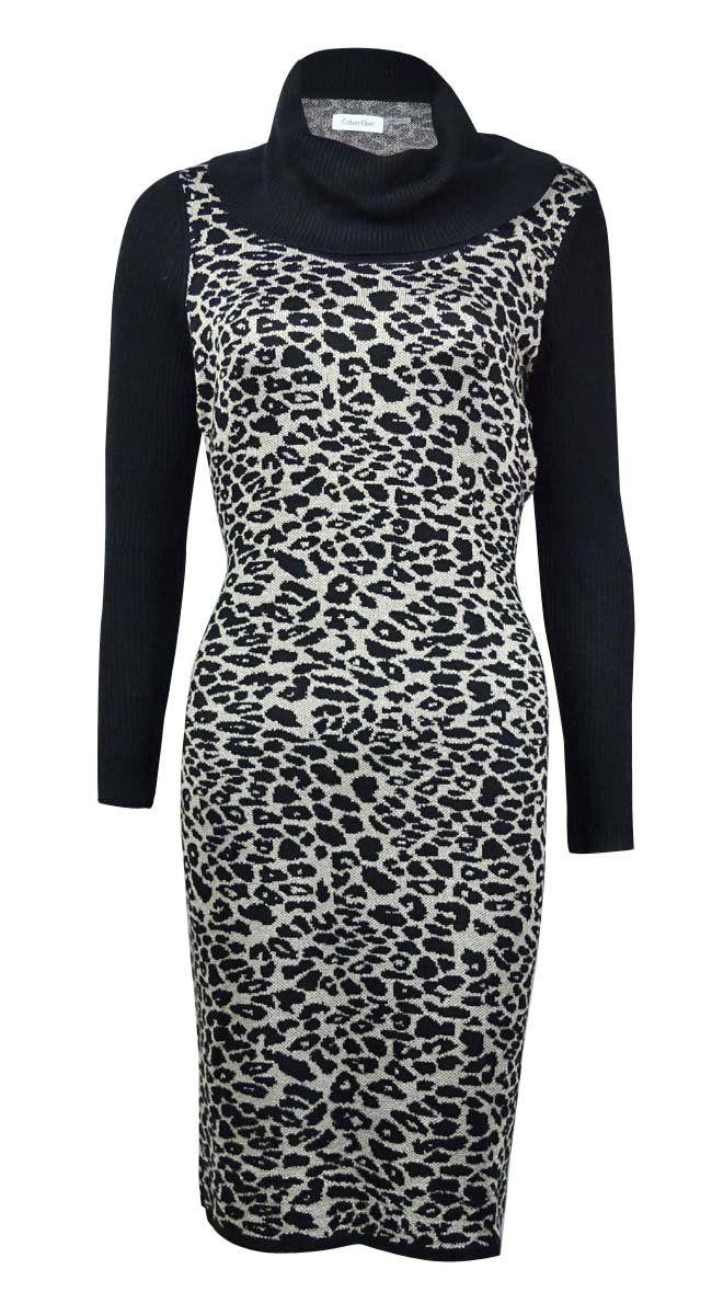 35412dd966 Calvin Klein Women s Animal Print Colorblock Knit Dress