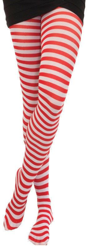9.49$  Watch now - http://vircs.justgood.pw/vig/item.php?t=f20gkn44253 - Red And White Striped Tights Pantyhose Elf Clown Christmas Rag Doll Costume