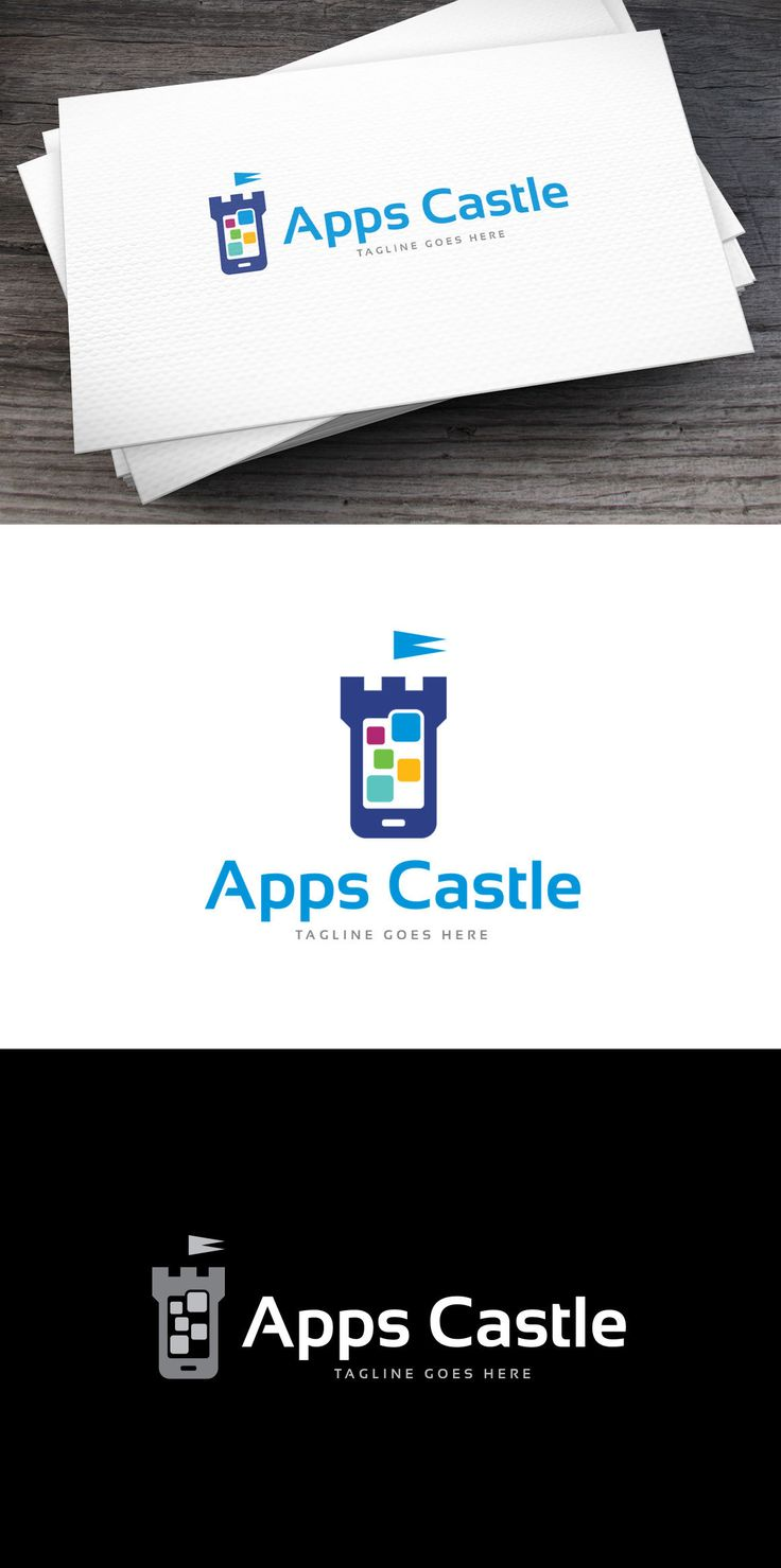 Apps Castle Logo Template AI, EPS
