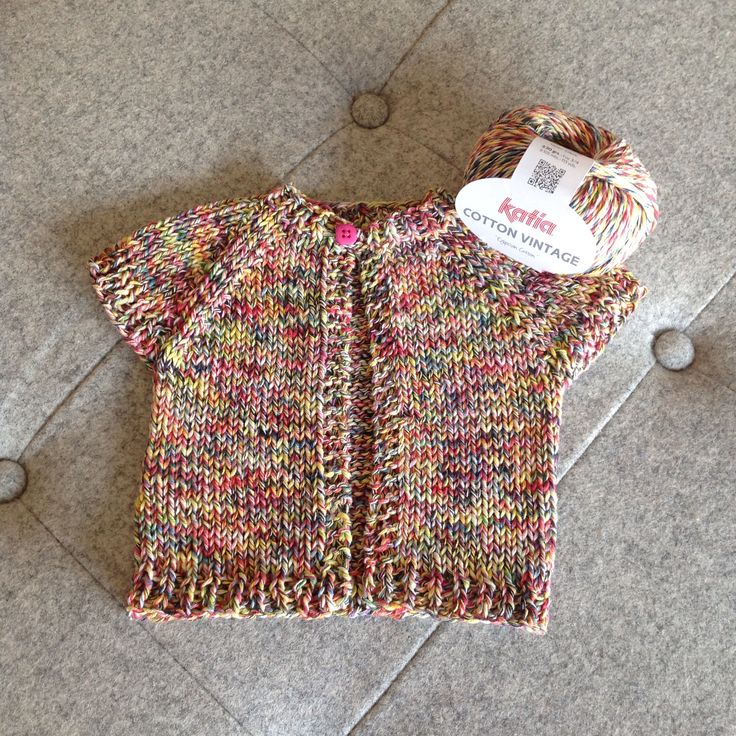 Another very cute baby knit in the lovely 100% cotton yarn from Katia Yarns. Thanks to Natalie for the pattern. http://www.ravelry.com/patterns/library/quick-knit-baby-shrug.