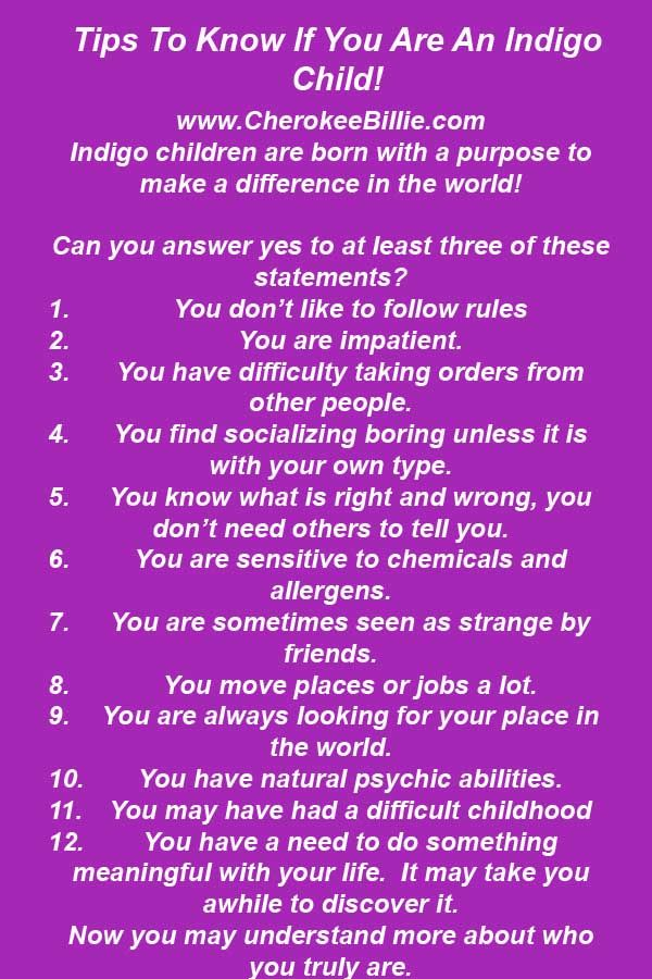 Tips To Know If You Are An Indigo Child!  Click Picture To Learn More