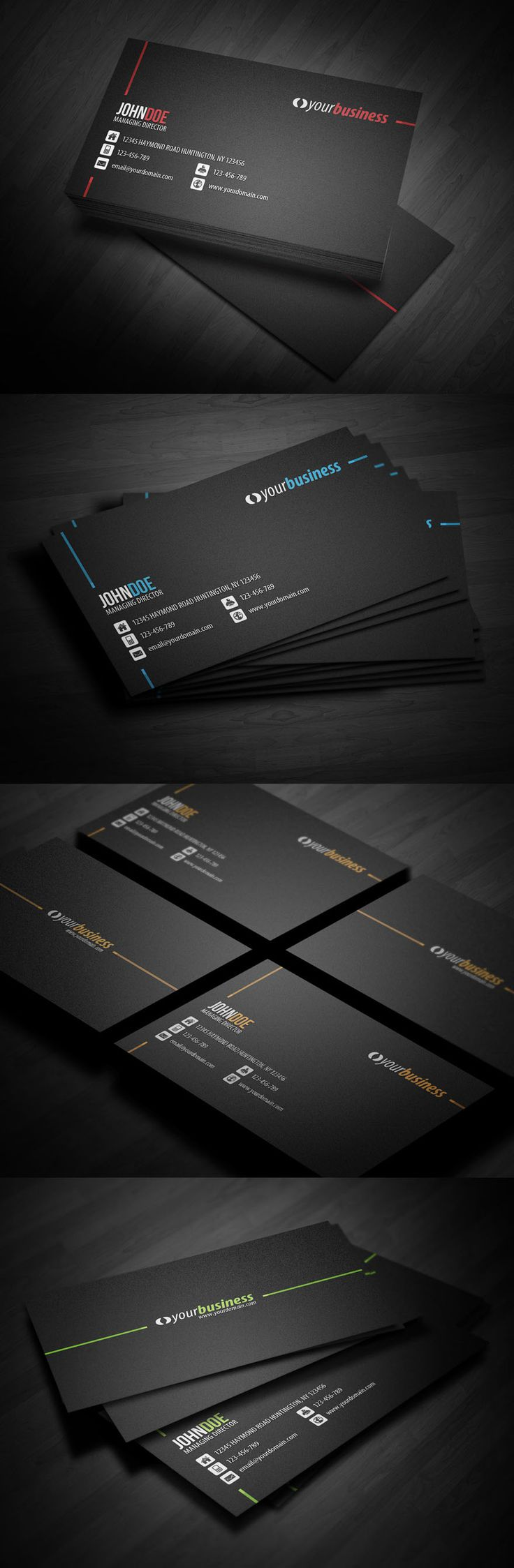 102 best business card design images on pinterest business card 25 creative corporate themed business card design examples follow us pinterest reheart Image collections