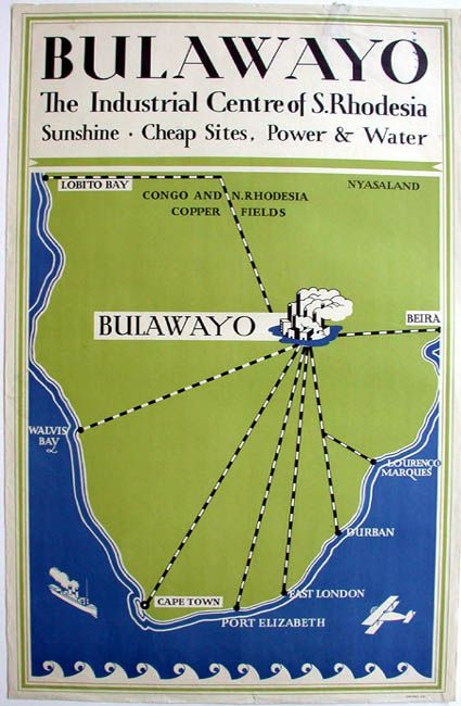 Bulawayo S. Rhodesia. Available at PosterMuseum.com by Philip Williams Posters NYC