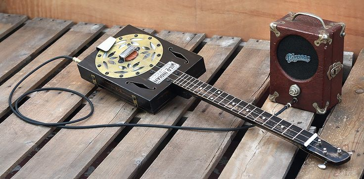1000 images about cigar box music on pinterest pie pan acoustic and guitar amp. Black Bedroom Furniture Sets. Home Design Ideas