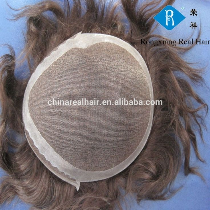 High quality natural human men hair toupee