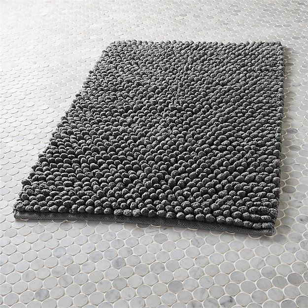 cirrus grey bath mat | CB2