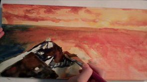 Seascape Painting Lessons | www.drawing-made-easy.com | #seascape #painting