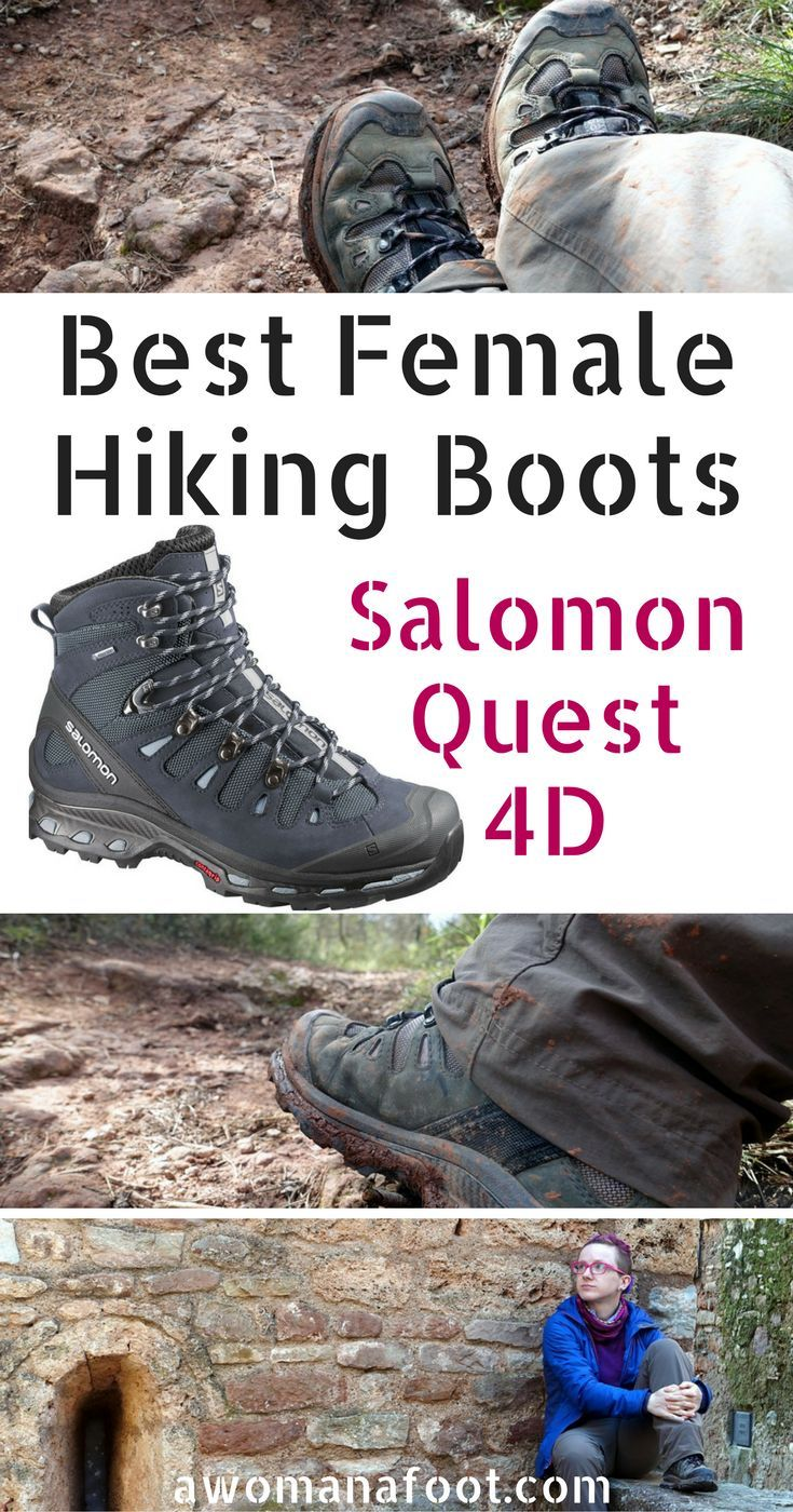 I found the perfect pair of female hiking boots! Read this review of Salomon Quest 4D to see why I love them so! awomanafoot.com