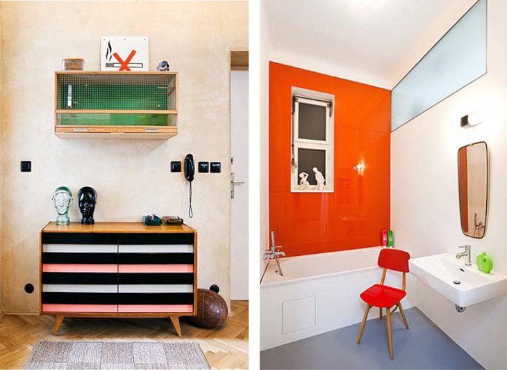 design attractor colourful interior full of czech mid century modern furniture