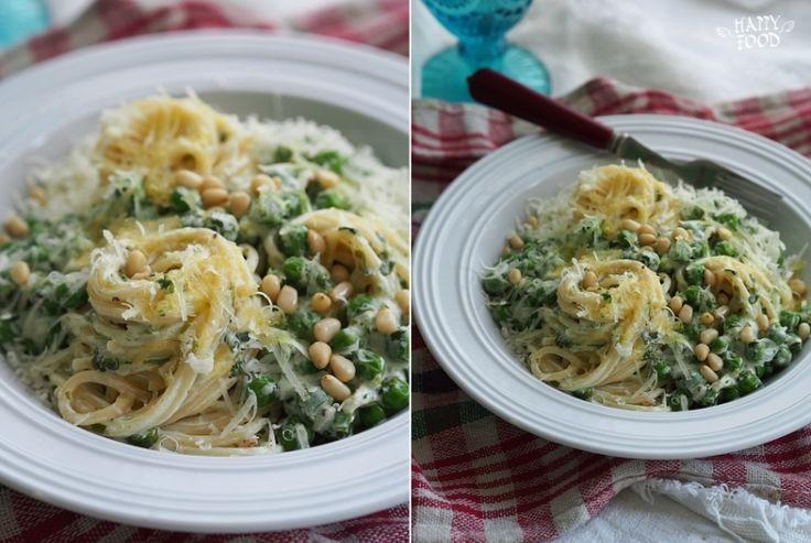 HAPPYFOOD - Паста с зеленым горошком, орехами и сливочным соусом