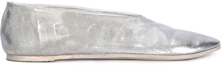 Marsèll distressed metallic slippers