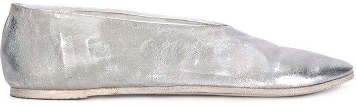 Marsèll distressed metallic slippers