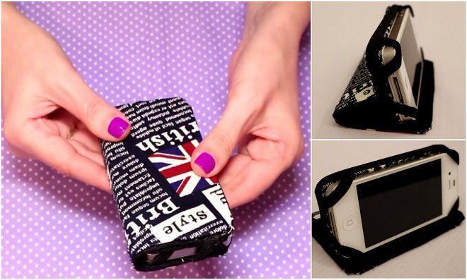 Mais um modelo de capinha de celular feito de um jeito diferente! Aula mostrando como fazer uma capinha de celular usando caixa de leite e ferro de passar.