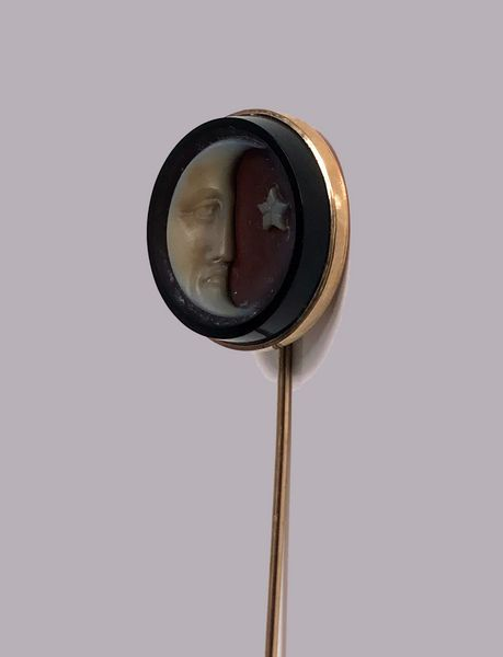 Rare Antique Gold and Onyx Cuvette Stickpin, C.1875 - Art and Antiques - Online Galleries Extranet
