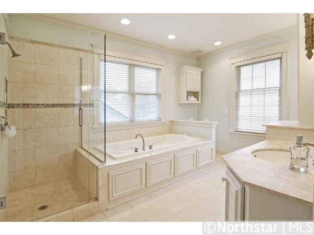 Frameless shower next to tub kids 39 bathroom ideas pinterest tubs showers and layout - Bathroom tub and shower designs tips ...