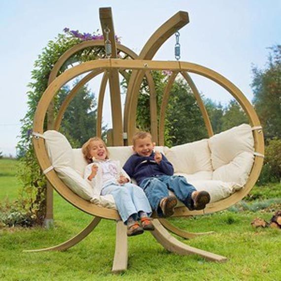 and unusual wooden garden swing design outdoor furniture
