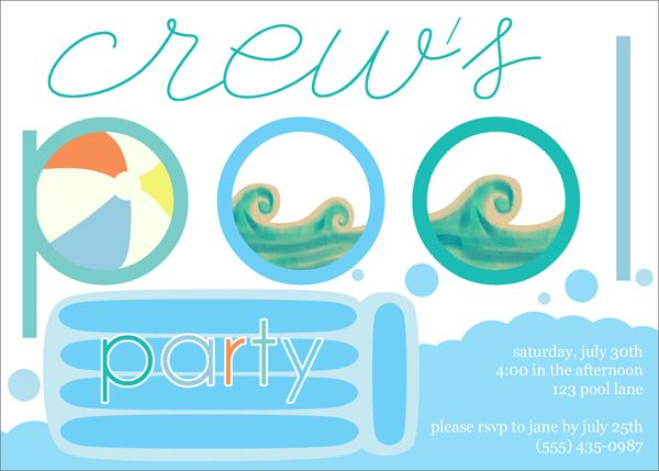 339 best Pool birthday party images on Pinterest Pool parties - birthday invitation pool party