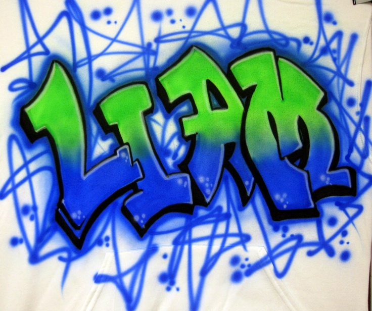 Airbrush Graffiti Name Airbrush Designs Pinterest