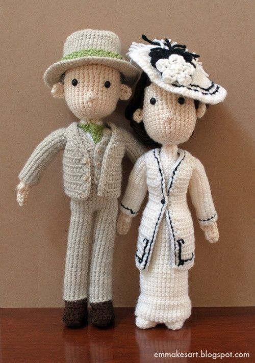Amigurumi Free Pattern Couple : 17 Best images about Y Crochet Bride and Groom Wedding on ...